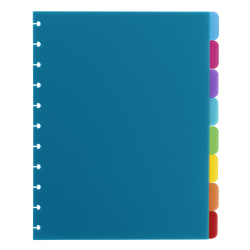 TUL® Custom Note-Taking System Discbound Tab Dividers, Letter Size, Assorted Colors, Pack Of 8 Dividers
