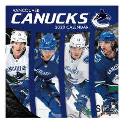 "Turner Licensing Monthly Wall Calendar, 12"" x 12"", Vancouver Canucks, 2020"
