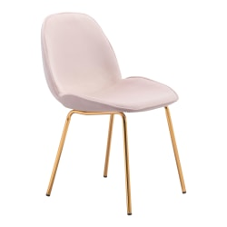 Zuo Modern Siena Dining Chairs, Pink, Set Of 2 Chairs