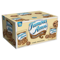 Famous Amos Chocolate Chip Cookies, 2 Oz, Box Of 36 Bags