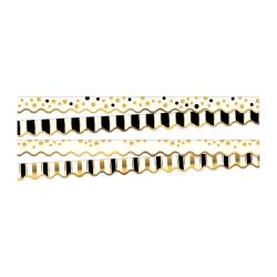 """Barker Creek Design Borders, 2 1/4"""" x 36"""", Gold, 13 Borders Per Pack, Set Of 2 Packs"""