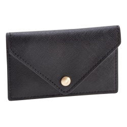 See Jane Work® Faux Leather Business Card Holder, Black