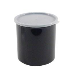 Cambro Crock With Lid, 1.4 Qt, Black
