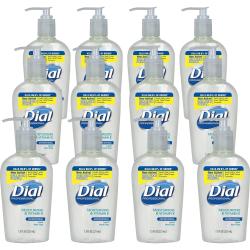 Dial Sensitive Skin Liquid Hand Soap - 7.5 fl oz (221.8 mL) - Pump Bottle Dispenser - Hand, Skin - Clear - 12 / Carton