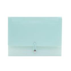 """See Jane Work® Poly Expanding File Folder, 13-Pocket, Letter Size, 13"""" Expansion, Blue"""