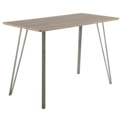 Lumisource Sedona Industrial Counter Table, Rectangular, Brown/Antique