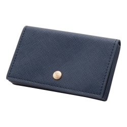 See Jane Work® Faux Leather Business Card Holder, Navy