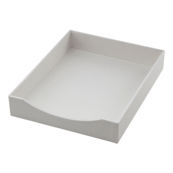 See Jane Work® White Faux Leather Letter Tray