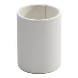 See Jane Work® White Faux Leather Pencil Cup