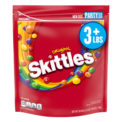 Skittles Original Candy Party Size Bag, 50 oz