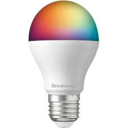 Brookstone BKSBRGB Color Smart Bulb - 9 W - 60 W Incandescent Equivalent Wattage - 800 lm - RGB Light Color - 25000 Hour - 4400.3°F (2426.8°C) Color Temperature - Alexa, Google Assistant Supported - Dimmable - Wi-Fi, Energy Saver