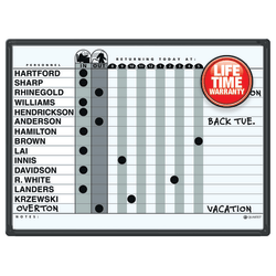 "Quartet® Classic DuraMax® Magnetic Dry-Erase In/Out Board, 24"" x 18"", Black Aluminum Frame"