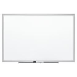 "Quartet® Magnetic Porcelain Dry-Erase Whiteboard, 24"" x 36"", Aluminum Frame With Silver Finish"