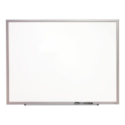 "Quartet® Magnetic Porcelain Dry-Erase Whiteboard, 36"" x 48"", Aluminum Frame With Silver Finish"