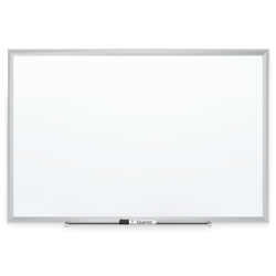 "Quartet® Classic Magnetic Dry-Erase Whiteboard, 60"" x 36"", Aluminum Frame With Silver Finish"