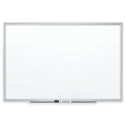 "Quartet® Magnetic Porcelain Dry-Erase Whiteboard, 48"" x 72"", Aluminum Frame With Silver Finish"
