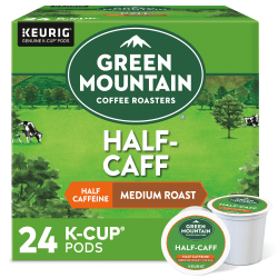Green Mountain Coffee® Half-Caff Coffee Single-Serve K-Cup®, Carton Of 24