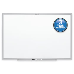 "Quartet® Classic Total Erase® Dry-Erase Whiteboard, 36"" x 24"", Silver Aluminum Frame"