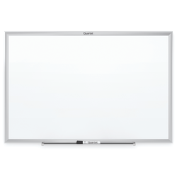 "Quartet® Classic Total Erase® Dry-Erase Whiteboard, Melamine, 48"" x 36"", Silver Aluminum Frame"