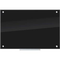 "U Brands Frameless Non-Magnetic Glass Dry Erase Board, 36"" X 24"", Black"