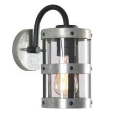 "Kenroy Home O'Malley 1-Light Outdoor Lantern, 10-7/8""H, Black/Silver"