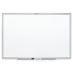 "Quartet® Classic Total Erase® Non-Magnetic Melamine Dry-Erase Whiteboard, 60"" x 36"", Aluminum Frame With Silver Finish"