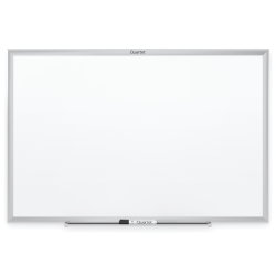 "Quartet® Classic Total Erase® Non-Magnetic Melamine Dry-Erase Whiteboard, 48"" x 96"", Aluminum Frame With Silver Finish"