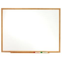 """Quartet® Classic Total Erase® Dry-Erase Board, 36"""" x 48"""", Oak Frame"""