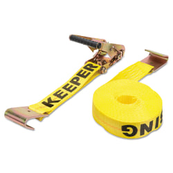 Ratchet Tie-Down Straps, Flat Hooks, 2 in W, 27 ft L, 10,000 lb Capacity