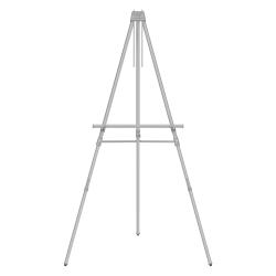 Quartet® Aluminum Heavy-Duty Telescoping Easel, Silver