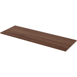 "Lorell® Quadro Sit-To-Stand Laminate Table Top, 72""W x 24""D, Walnut"
