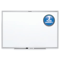 "Quartet® Classic Total Erase® Melamine Dry-Erase Whiteboard, 18"" x 24"", Aluminum Frame With Silver Finish"