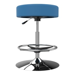 Marco Group Cushioned Swivel Stool, Pool Blue