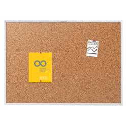 "Quartet® Classic Cork Bulletin Board, 36"" x 60"", Aluminum Frame With Silver Finish"