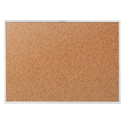 "Quartet® Classic Cork Bulletin Board, 48"" x 96"", Aluminum Frame With Silver Finish"