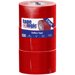 "Tape Logic Gaffers Tape, 4"" x 60 Yd., 11 Mil, Red, Case Of 3 Rolls"