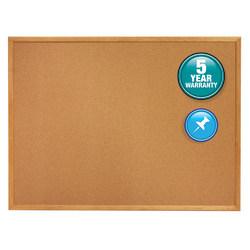 "Quartet® Natural Cork Bulletin Board, 48"" x 96"", Wood Frame With Oak Finish"