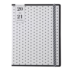 """See Jane Work® Polka Dot Academic Monthly Planner, 8-1/2"""" x 11"""", Pink/White, July 2020 to June 2021, SJ101-091A"""