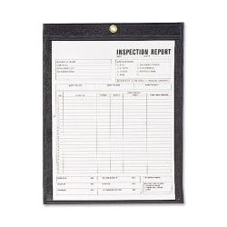 """C-Line® Stitched Shop Ticket Holders With Black Backing, 8 1/2"""" x 11"""", Box Of 25"""