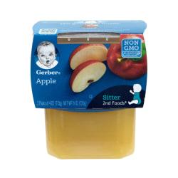 Gerber 2nd Foods Apple Baby Food, 4 Oz, 2 Tubs Per Pack, Box Of 8 Packs