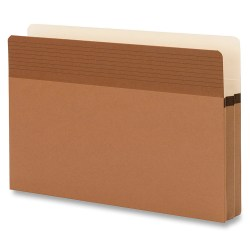 Smead® Easy Grip Pockets Expanding File Folders, Legal Size, 30% Recycled, Redrope, Box Of 25