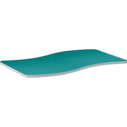 """HON® Build 54""""W Configurations Ribbon Table, Turquoise Blue"""