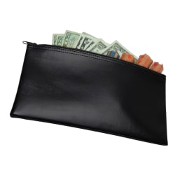 Zipper Top Wallet, Black