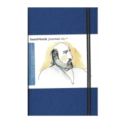 "Hand Book Journal Co. Travelogue Drawing Journals, Landscape, 5 1/2"" x 8 1/4"", 128 Pages, Ultramarine Blue, Pack Of 2"