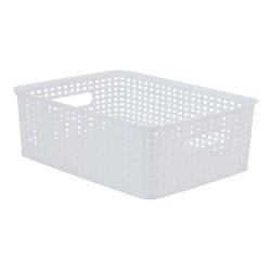 See Jane Work® Plastic Medium Weave Bin, Small Size, White