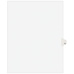 """Avery® 20% Recycled Avery-Style Collated Legal Index Exhibit Dividers, 8 1/2"""" x 11"""", White Dividers/White Tabs, 15, Pack Of 25"""