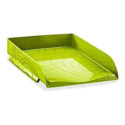 """CEP Origins Collection Stackable Letter Tray, 2-1/2""""H x 10-1/4""""W x 13-11/16""""D, Green"""