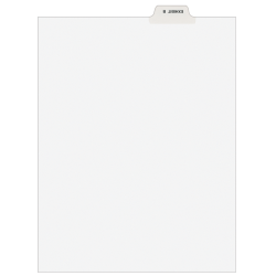 "Avery® 20% Recycled Bottom-Tab Legal Exhibit Dividers, Exhibit B, 8 1/2"" x 11"", Pack Of 25"