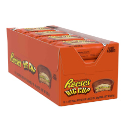 Reese's Big Cup Peanut Butter Cups, 1.4 Oz, Pack Of 16 Cups