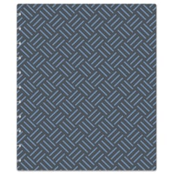 TUL® Discbound Notebook Covers, Letter Size, Blue/Gray Weave, Pack Of 2 Covers